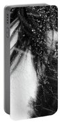 Close Up Portrait Of A Horse In Falling Snow Portable Battery Charger