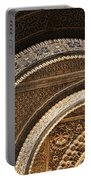 Close-up View Of Moorish Arches In The Alhambra Palace In Granad Portable Battery Charger
