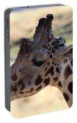 Closeup Of Giraffe Portable Battery Charger