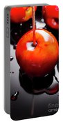 Closeup Of Red Candy Apple On Stick Portable Battery Charger