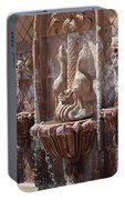 Closeup Of Terracotta Water Fountain In Full Color La Quinta Art District Photograph Portable Battery Charger