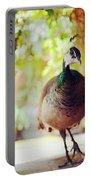 Closeup Portrait Of A Peafowl Portable Battery Charger