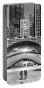 Cloud Gate Park Black And White Portable Battery Charger