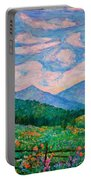 Cloud Swirl Over The Peaks Of Otter Portable Battery Charger