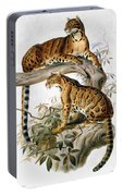Clouded Leopard, 1883 Portable Battery Charger
