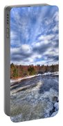 Clouds Above The Lock And Dam Portable Battery Charger