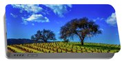Clouds Above Vinyards Portable Battery Charger