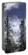 Clouds And Snow Swirling Portable Battery Charger