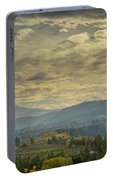 Clouds And Sun Rays Over Mount Hood And Hood River Oregon Portable Battery Charger