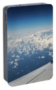 Clouds Under An Airplane Wing Portable Battery Charger