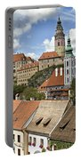 Clouds Over Cesky Krumlov Portable Battery Charger