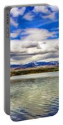 Clouds Over Distant Mountains Portable Battery Charger