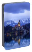 Clouds Over Lake Bled Portable Battery Charger