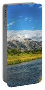Clouds Over The Grand Tetons Portable Battery Charger