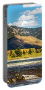 Clouds Over The Teton Foothills Portable Battery Charger