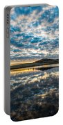 Cloudscape - Reflection Of Sky In Wichita Mountains Oklahoma Portable Battery Charger