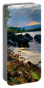 Cloudy Autumn Sunset Portable Battery Charger