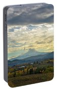 Cloudy Day Over Mount Hood At Hood River Oregon Portable Battery Charger