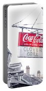 Clover Grill Coke Sign Portable Battery Charger