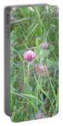 Clover In The Grass Portable Battery Charger