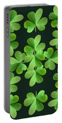 Clover Print Portable Battery Charger