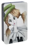 Green Hat Clown Portable Battery Charger