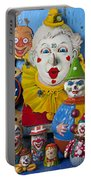 Clown Toys Portable Battery Charger by Garry Gay