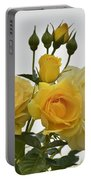 Cluster Of Yellow Roses Portable Battery Charger