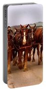 Clydesdale Amish Plow Team Portable Battery Charger