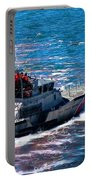 Coast Guard Out To Sea Portable Battery Charger by Aaron Berg