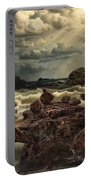 Coastal Landscape With Ships On The Horizon Portable Battery Charger