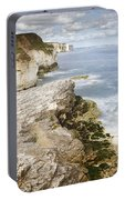 Coastline Viewed From Thornwick Bay Flamborough Portable Battery Charger
