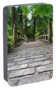 Cobblestone Path To Wood Bridge Portable Battery Charger