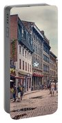 Cobblestone Streets In Old Montreal  Portable Battery Charger