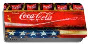 Coca Cola And Wooden American Flag Portable Battery Charger
