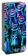 Coca-cola Coke Bottles - Return For Refund - Painterly - Blue Portable Battery Charger