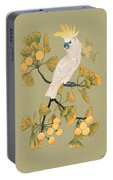 Cockatoo And Ginkgo Tree Portable Battery Charger