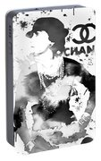 Coco Chanel Grunge Portable Battery Charger