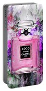 Coco Chanel Parfume Pink Portable Battery Charger
