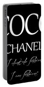 Coco Chanel Quote Portable Battery Charger
