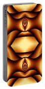 Cocoa Fractal Roses Portable Battery Charger