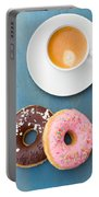 Coffee And Baked Donuts Portable Battery Charger