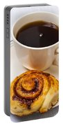 Coffee And Breakfast Roll Portable Battery Charger