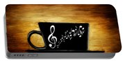 Coffee And Music Portable Battery Charger