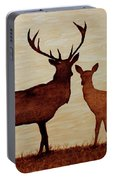 Coffee Painting Deer Love Portable Battery Charger