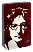 Coffee Painting John Lennon Portable Battery Charger