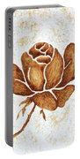 Coffee Painting Rose Blooming Portable Battery Charger
