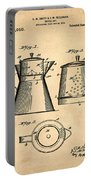 Coffee Pot Patent 1916 Sepia Portable Battery Charger