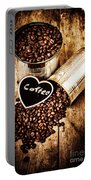 Coffee Shop Love Portable Battery Charger