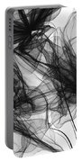 Coherence - Black And White Modern Art Portable Battery Charger
